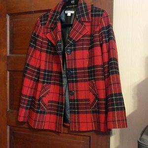 Pendleton peacoat plaid jacket